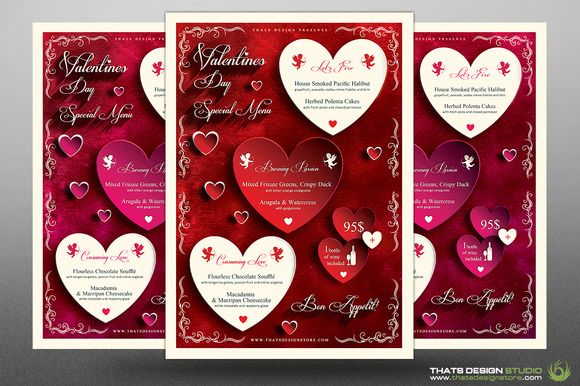 Valentines Day Menu Template V1 Menu templates, Menu and Template - valentines day menu template