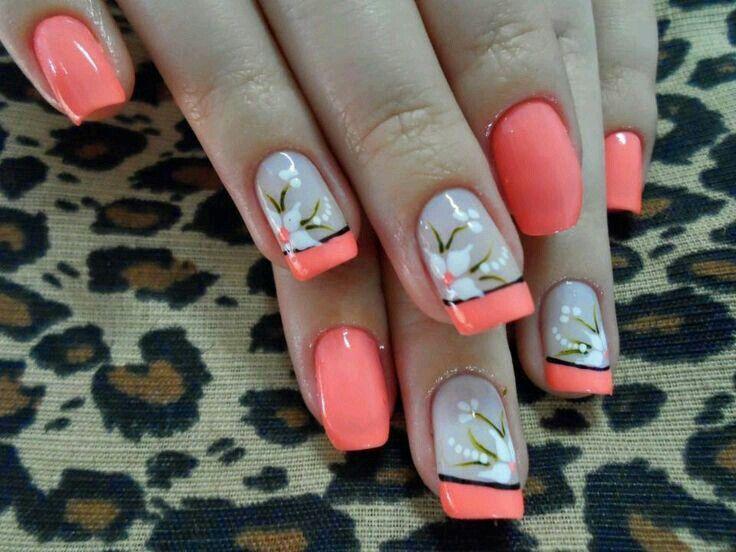 Flores •   fácil   Pinterest   Flores, Diseños de uñas y Arte de uñas