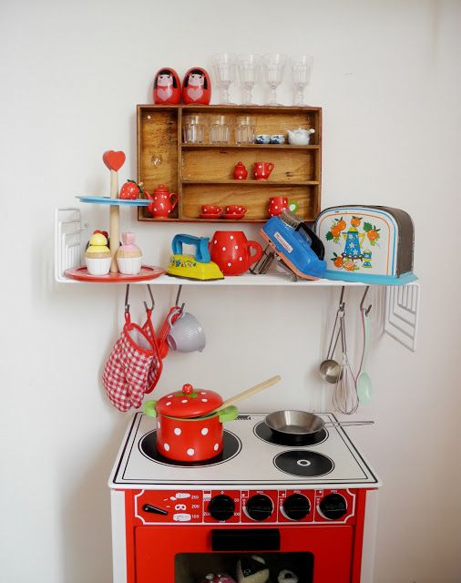 vintage inspired play kitchen