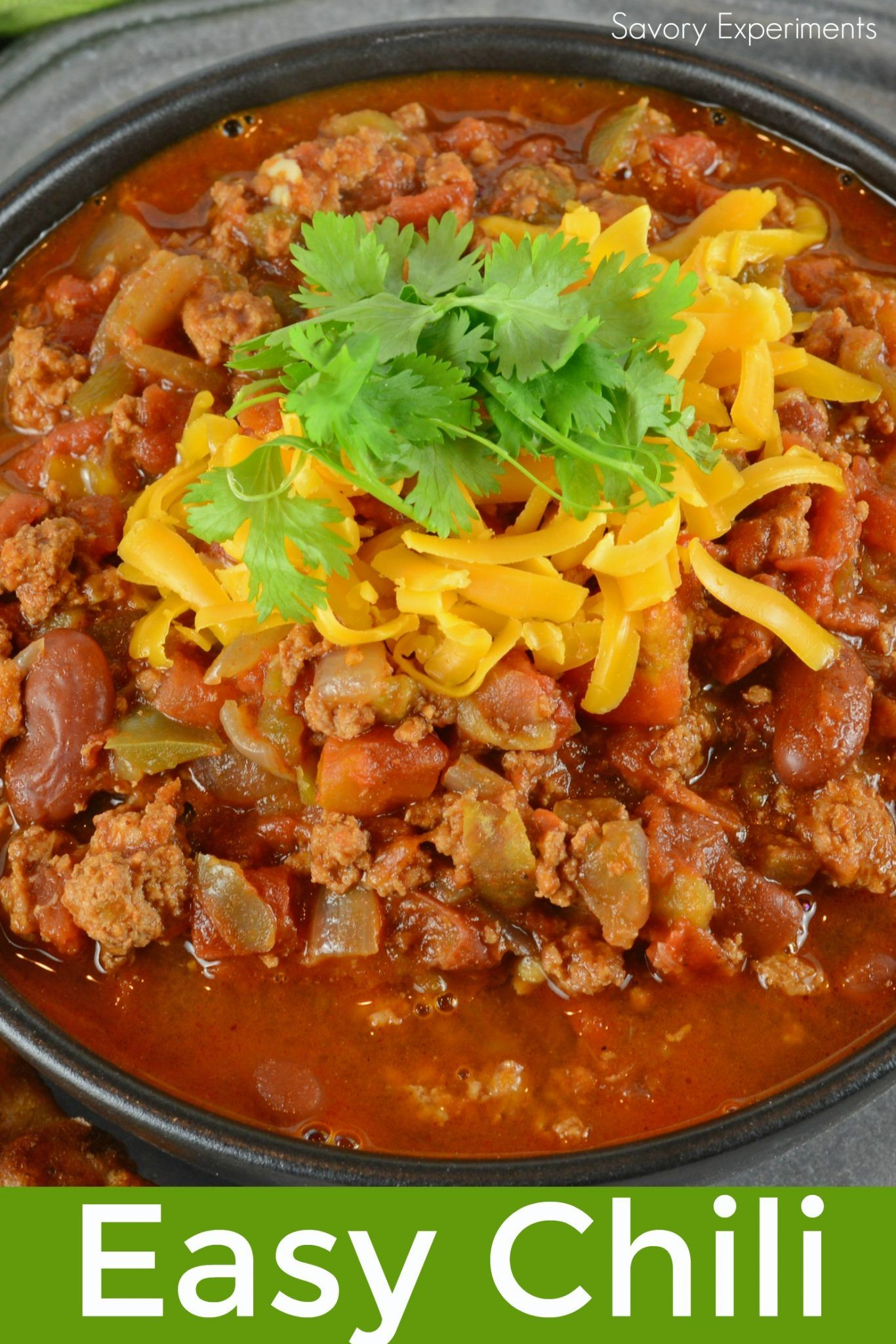 Easy Chili Is A Spicy Mix Full Of Ground Beef Italian Sausage And Vegetables But There Is A Secret Ingredient Easy Chili Best Chili Recipe Chili Recipe Easy