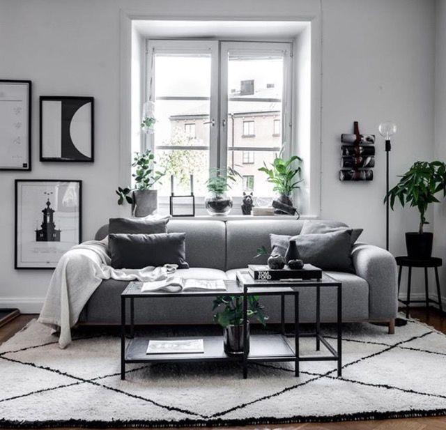 Pin By Marin Tsoumpa On Decor Design Black Living Room Decor Monochrome Living Room Black Furniture Living Room