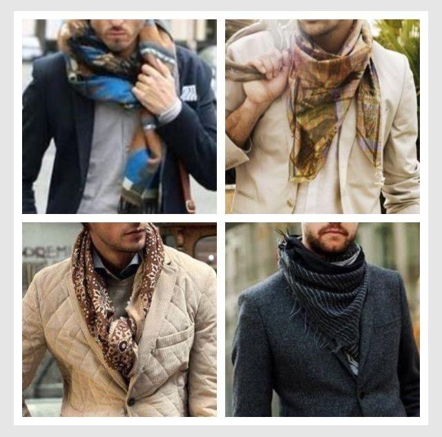 Eigentlich haben wir ja gerade hochsommer aber irgendwie - Schal binden mann ...