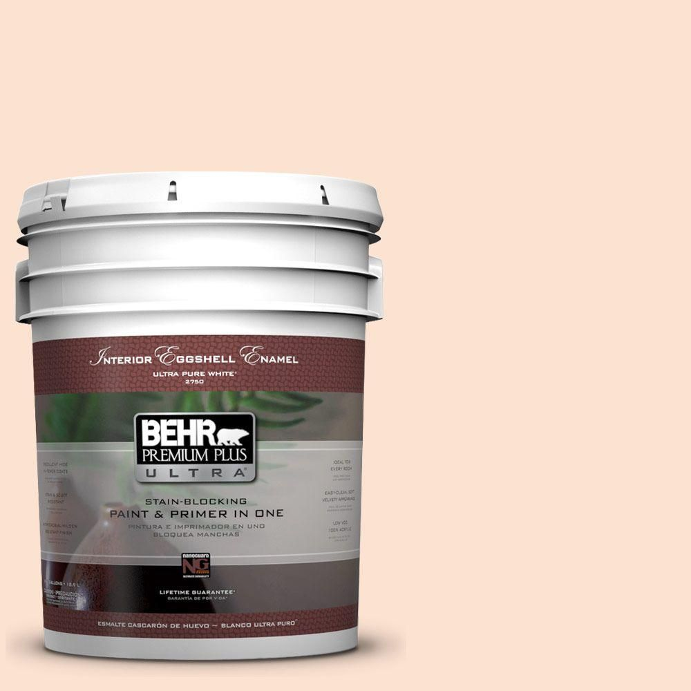 BEHR Premium Plus Ultra 5-gal. #ppl-21 Sweet Peach Eggshell Enamel Interior Paint