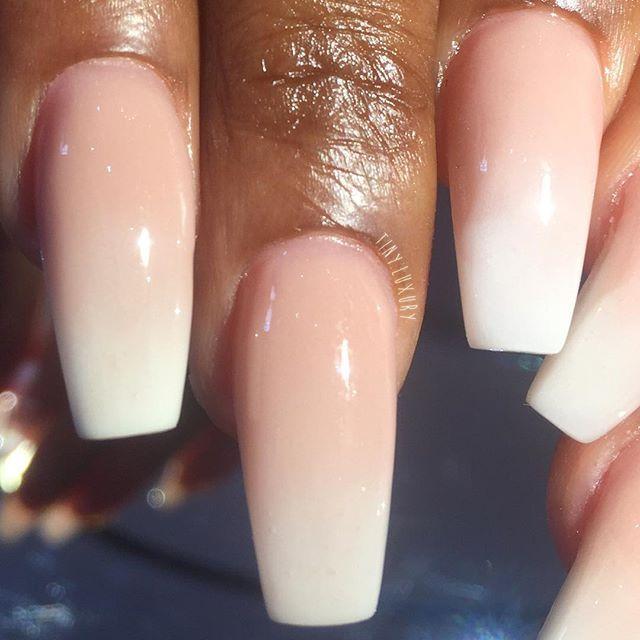Nude ombré is liiiiife.   Nail Inspiration   Pinterest   Nude nails ...