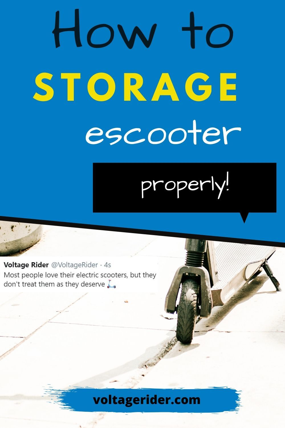 Take a look at this in-depth guide on how to storage electric scooter properly. If you want to put your escooter away for a while or storage your electric scooter over winter this is what you need to do. That way, you will save escooter battery and your electric scooter will last longer.  #electricscooter #escooter #electricscooters #escooters #voltagerider #electricscooterstorage #escooterstorage #storageescooter #storageelectricscooter #foldingescooter #urbanmobility