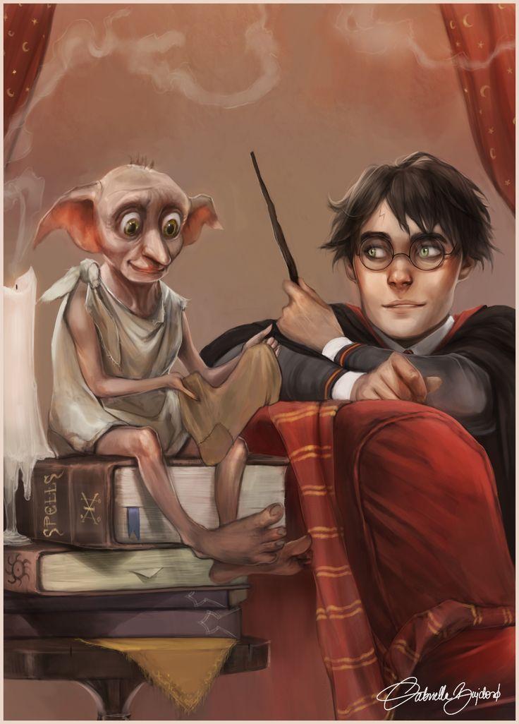 Harry Potter et Dobby par g a b i - #dobby #harry #potter - #new