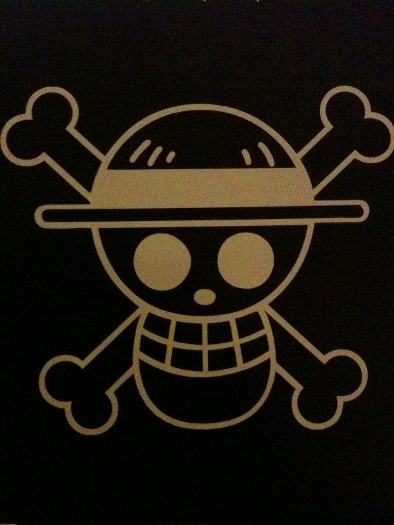 One Piece Luffy Vinyl Sticker by AlottaVinyls on Etsy, $3.95