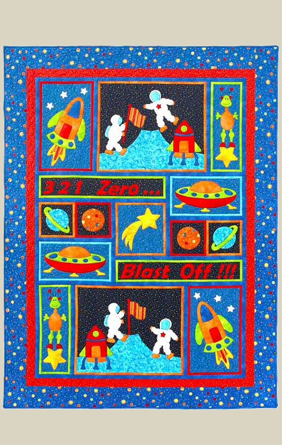 Blast Off Quilt Pattern Appliqu 233 Amp Pieced Quilt Sewing