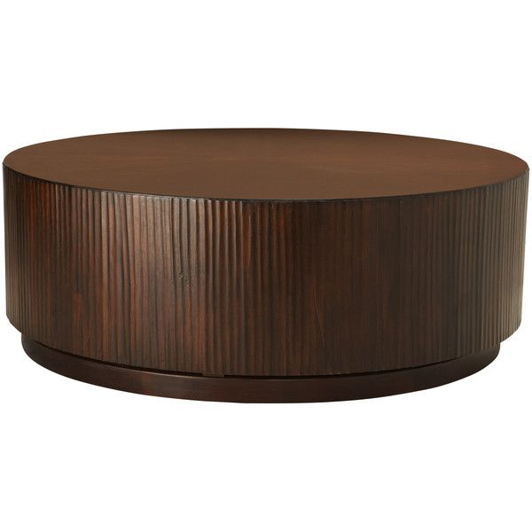 Valeta Brown Coffee Table ($699) ❤ liked on Polyvore featuring home, furniture, tables, accent tables, coffee tables, dresser, lacquer furniture, lacquer table, swivel side table and brown furniture
