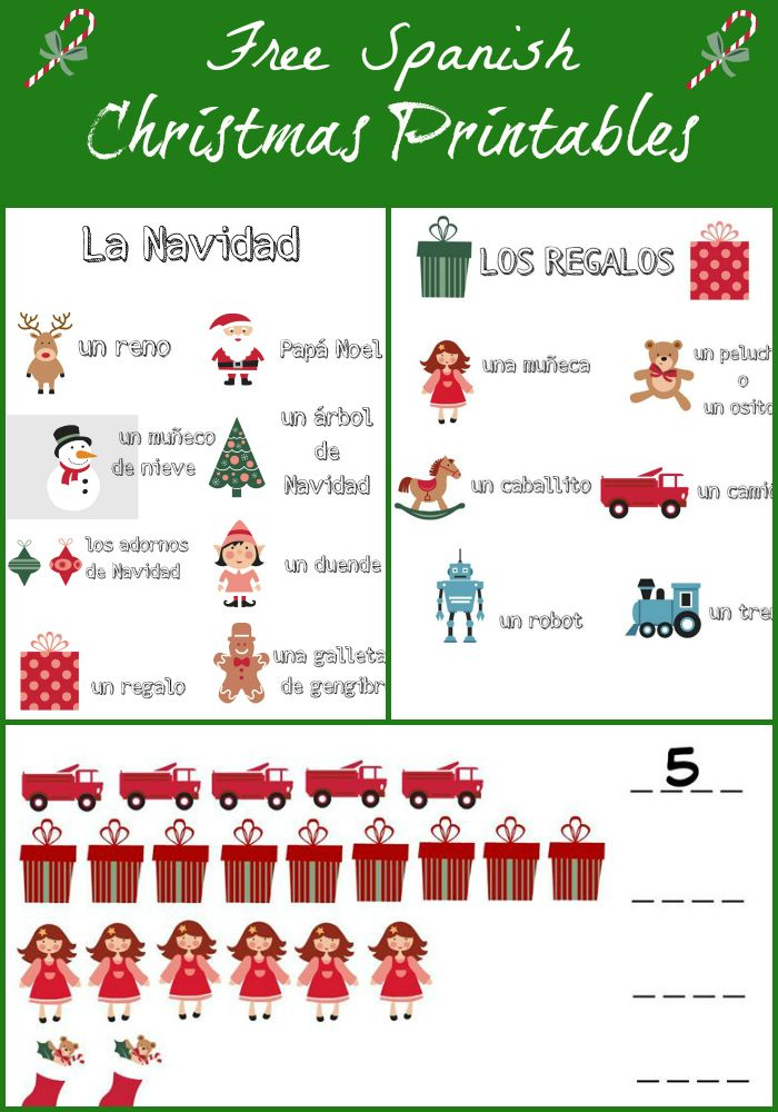 Free Christmas Printables in Spanish! Free christmas