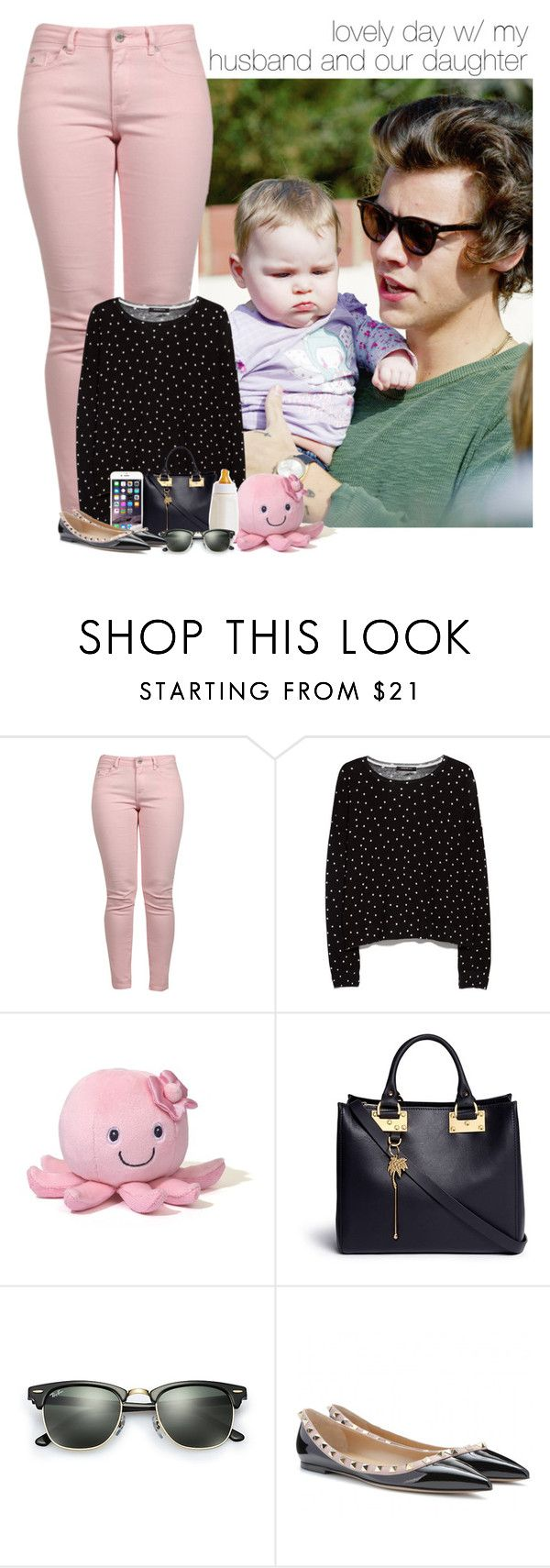 """""""lovely day with my husband and our daughter"""" by dipx1d ❤ liked on Polyvore featuring Maison Scotch, MANGO, Gund, Sophie Hulme and Ray-Ban"""
