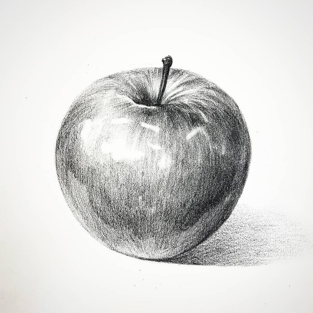Makeup And Age In 2020 Drawing Apple Apple Pencil Drawing