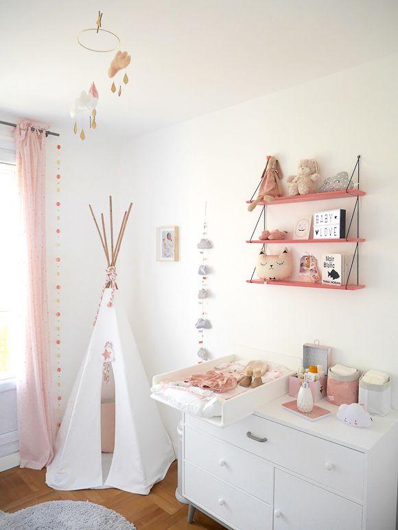 La chambre bébé de Léa Guirlandes, Nuage et Chambres bébé