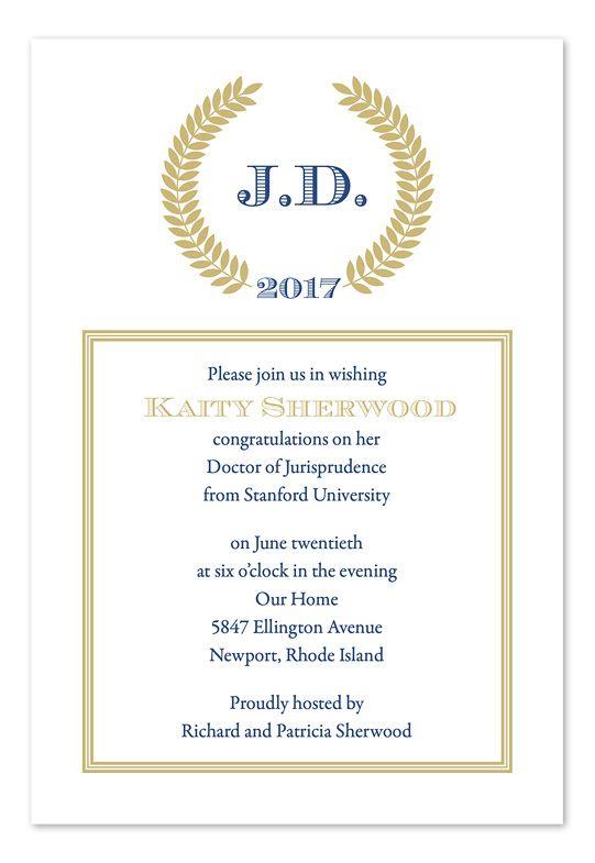 Sophisticated Graduate Graduation Invitations Graduation Party