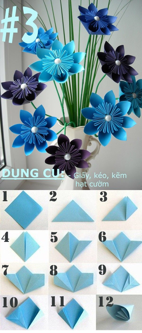 4 Kiu Gp Hoa Giy Khng H Kh 3 Craft Paper Flowers Origami Video Diagram Quotswan Quyetquot Crafts
