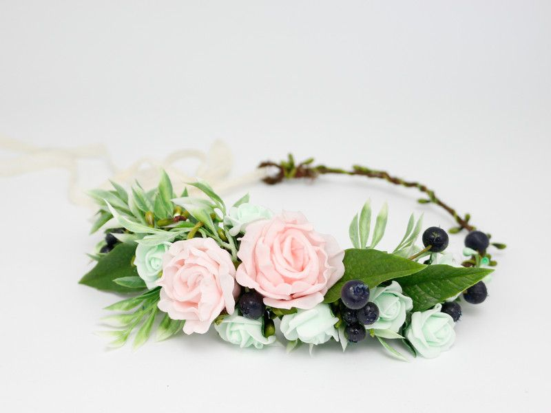 Wianek Na Glowe Lolawhite Kwiaty Do Wlosow Headbands Wedding Hoop Wreath