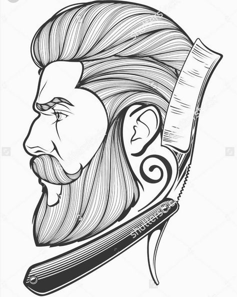 Barberia Beard Art Barber Tattoo Barbershop Design