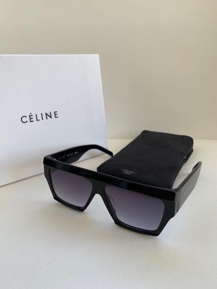 d54ad8025551 NEW CELINE sunglasses CL40030 s Black Frame Gray Lens Square  fashion   clothing  shoes