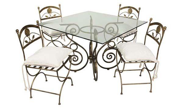 Muebles de hierro forjado van gogh hierro pinterest for Modelos de sillas de hierro