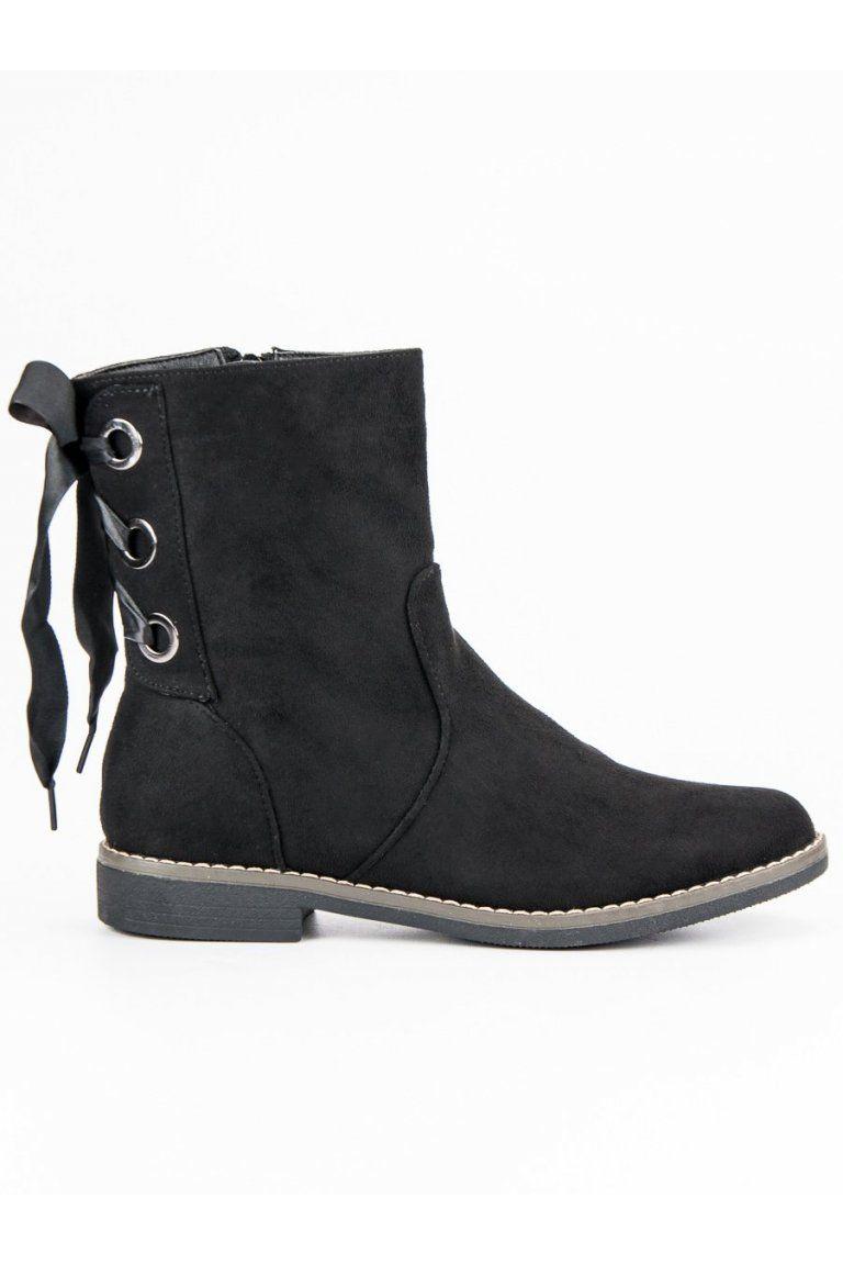 50f34d41f992 Klasické čierne topánky so stuhou Super Mode