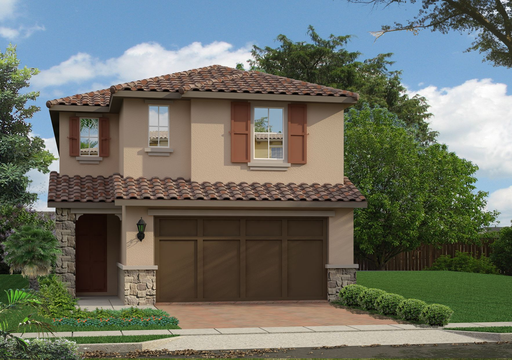 Tuscan Style Mid Tome 39 Mushroom 39 Beige Brown Doors Terra Cotta Shutters Gray Window Trims