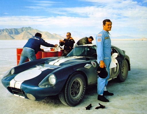 FIA GT championship 1965 n°1 auto racing F1 set of 2 COBRA pin