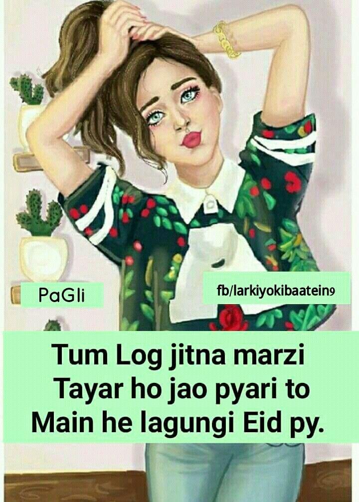 Haa jao tyaar holo Cute quotes for girls, Girly attitude