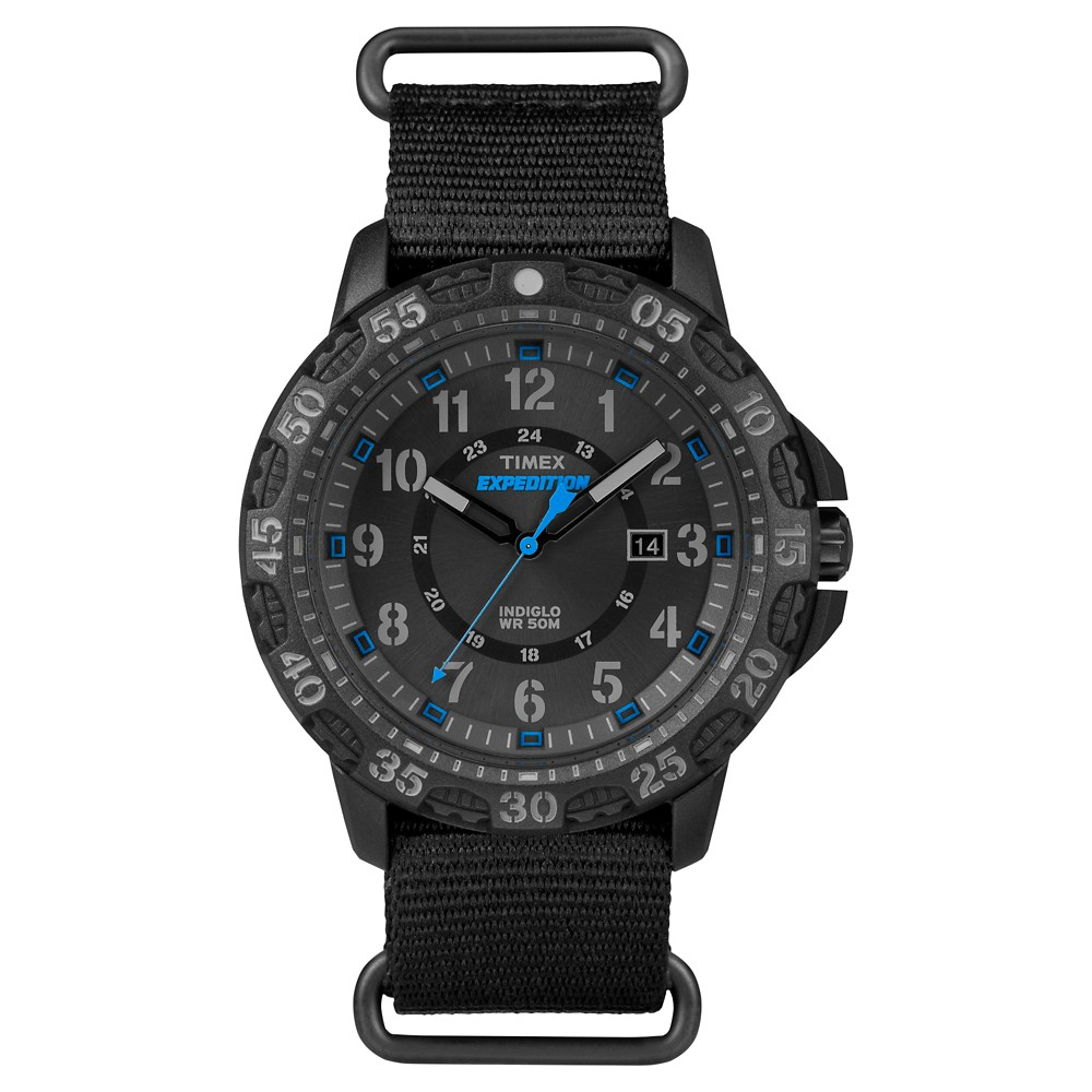 Men's Timex Expedition Watch with Nato Nylon Strap - Black TW4B03500JT