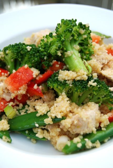 Sesame Chicken Couscous Salad