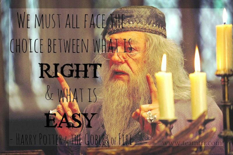 we must choose between what is right and what is easy