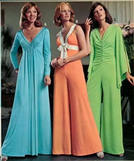 womens evening gowns and jumpsuits from the 70s 70s