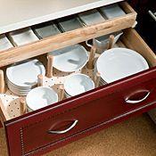 2 Drawer Base With Sliding Shelf And Pegged Dish Organizer