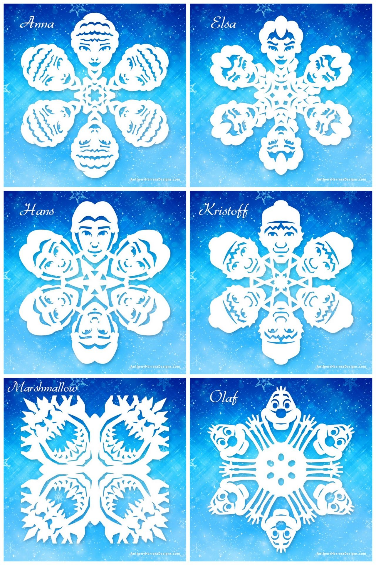 Character Design Pdf Free Download : Diy free frozen snowflakes templates from anthony