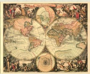 Colourful antique french map of the world 20 x 16 11678 http colourful antique french map of the world 20 x 16 11678 gumiabroncs Gallery