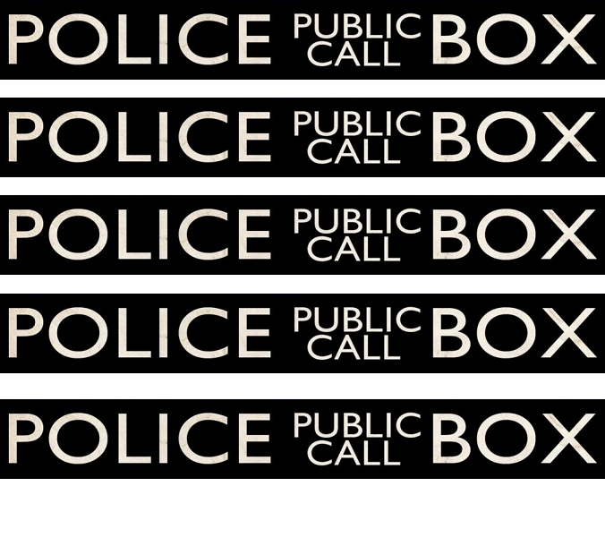 Police Public Call Box - Signage--use with the papercraft boxes, on ...