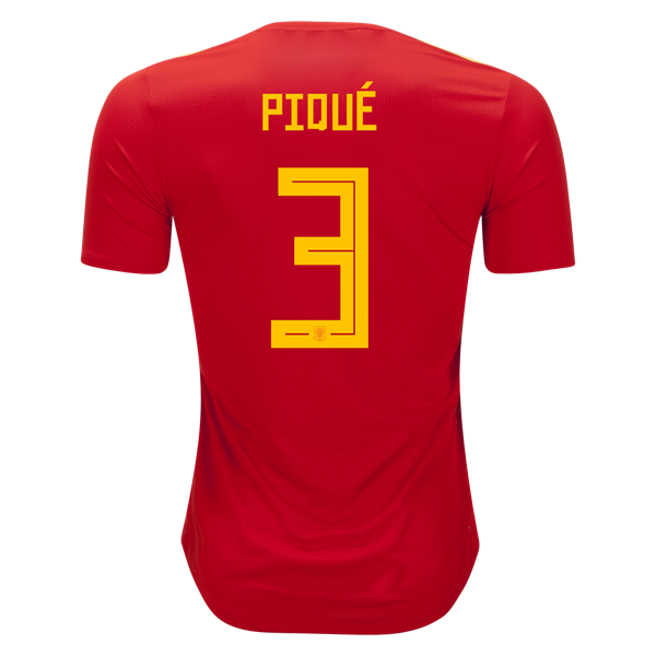 adidas Gerard Pique Spain Authentic Home Jersey 2018-s  c9c30e550
