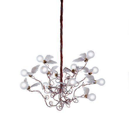 Ingo maurer birdie chandelier cable redblue lamp pinterest ingo maurer birdie chandelier cable redblue mozeypictures Images
