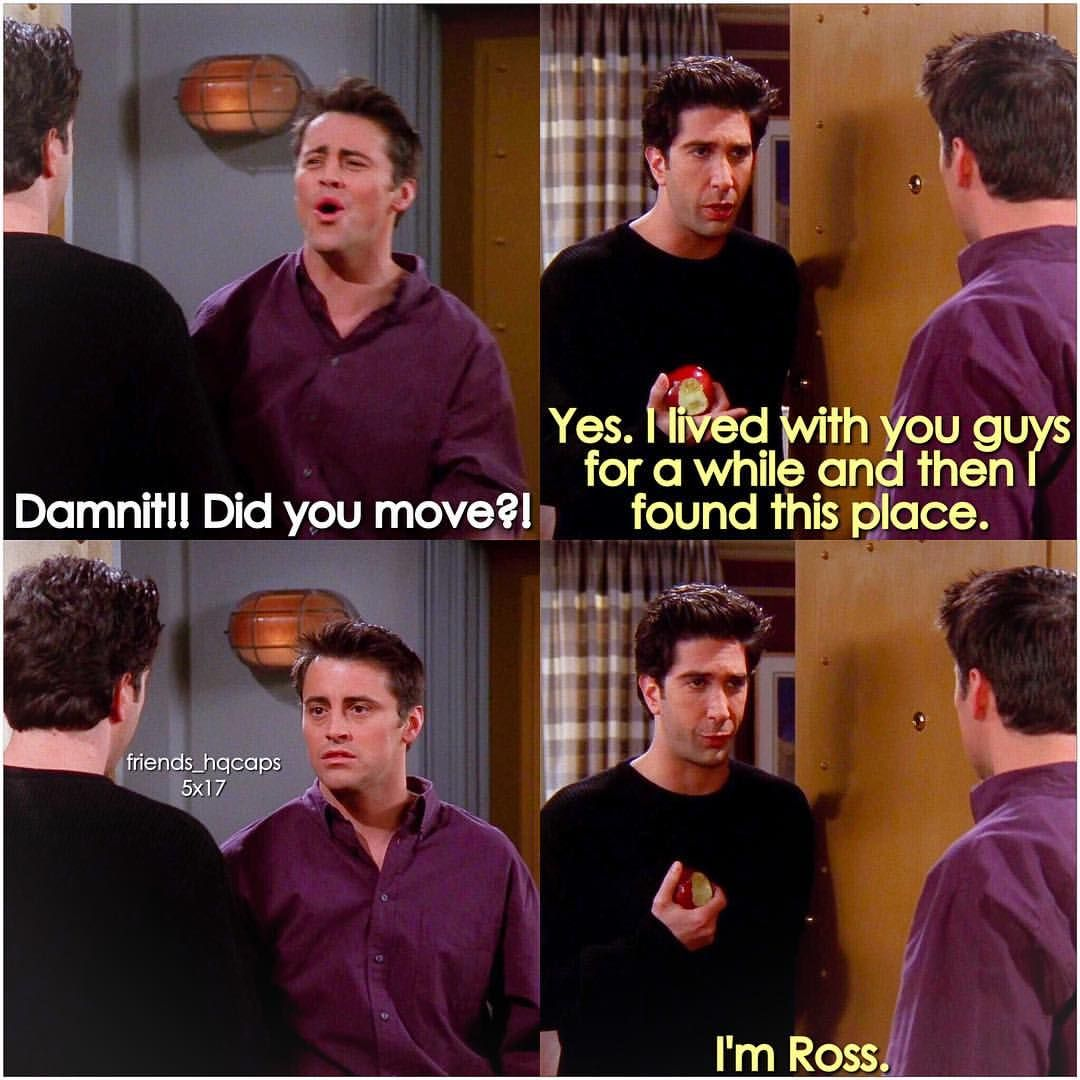 When Joey couldn't find the hot girl's apartment  | movies and tv