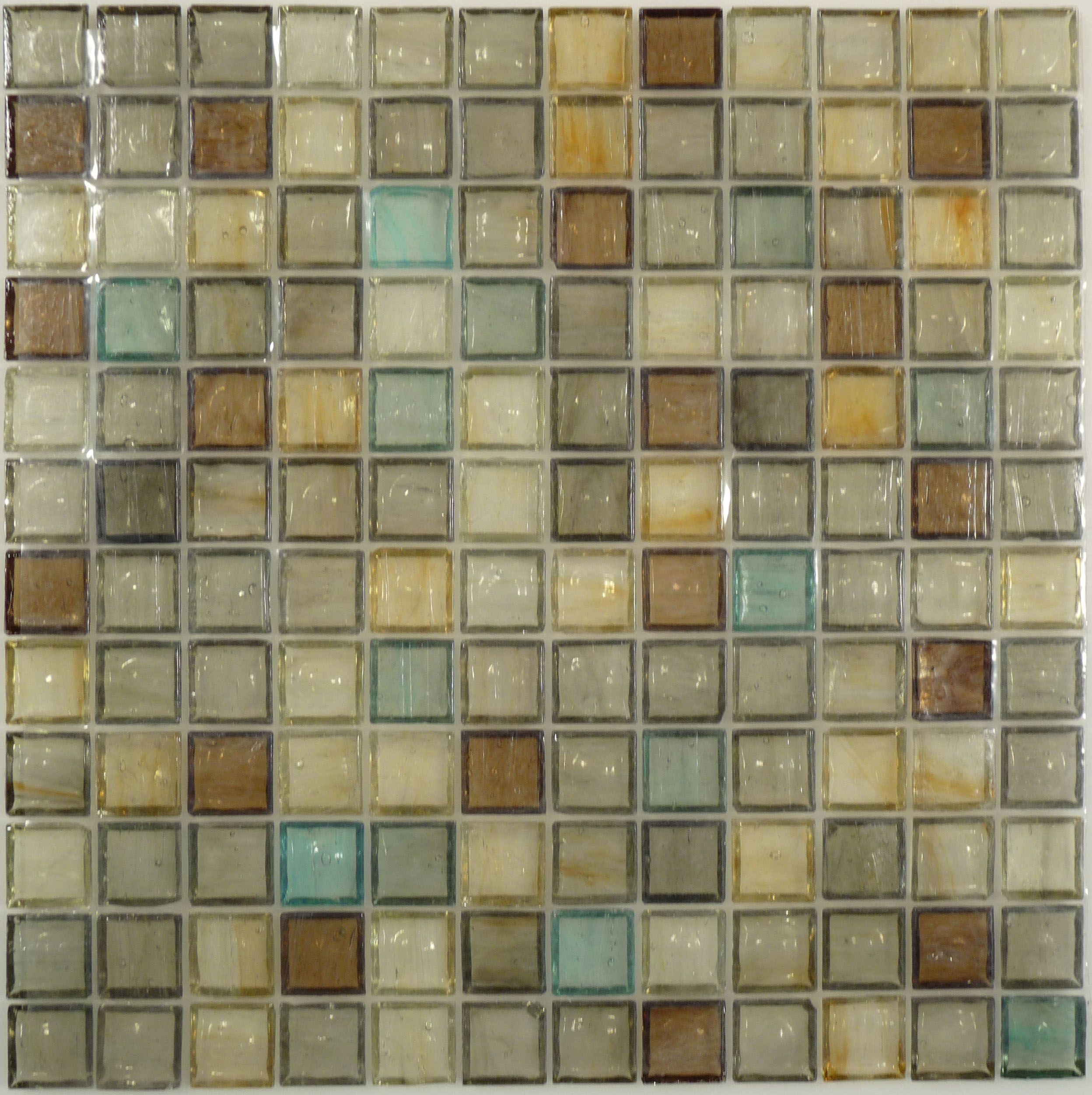 Botanical Glass 1 X 1 1 X 1 Brown Grey Green Yellow Glossy Brown Glass Brown And Grey Kitchen Remodeling Projects Glass Backsplash Kitchen