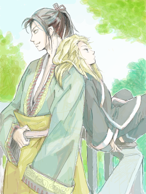 The Twelve Kingdoms Shoryuu and Enki fanart