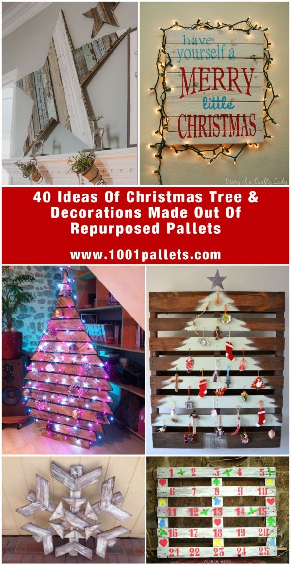 65 Pallet Christmas Trees Holiday Pallet Decorations Ideas 1001 Pallets Pallet Christmas Tree Pallet Christmas Christmas Tree Decorations