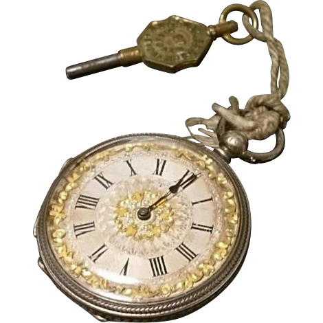 Absolutely Stunning Ladies Antique Silver Pocket Watch Victorian Pocket Watch Engraved Silver Case Silver Pocket Watch Pocket Watch Engraving Silver Engraving