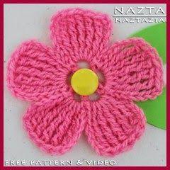 Flor Con Grandes Pétalos A Crochet Flores A Crochet Flores Tejidas A Crochet Flores Pequeñas Crochet