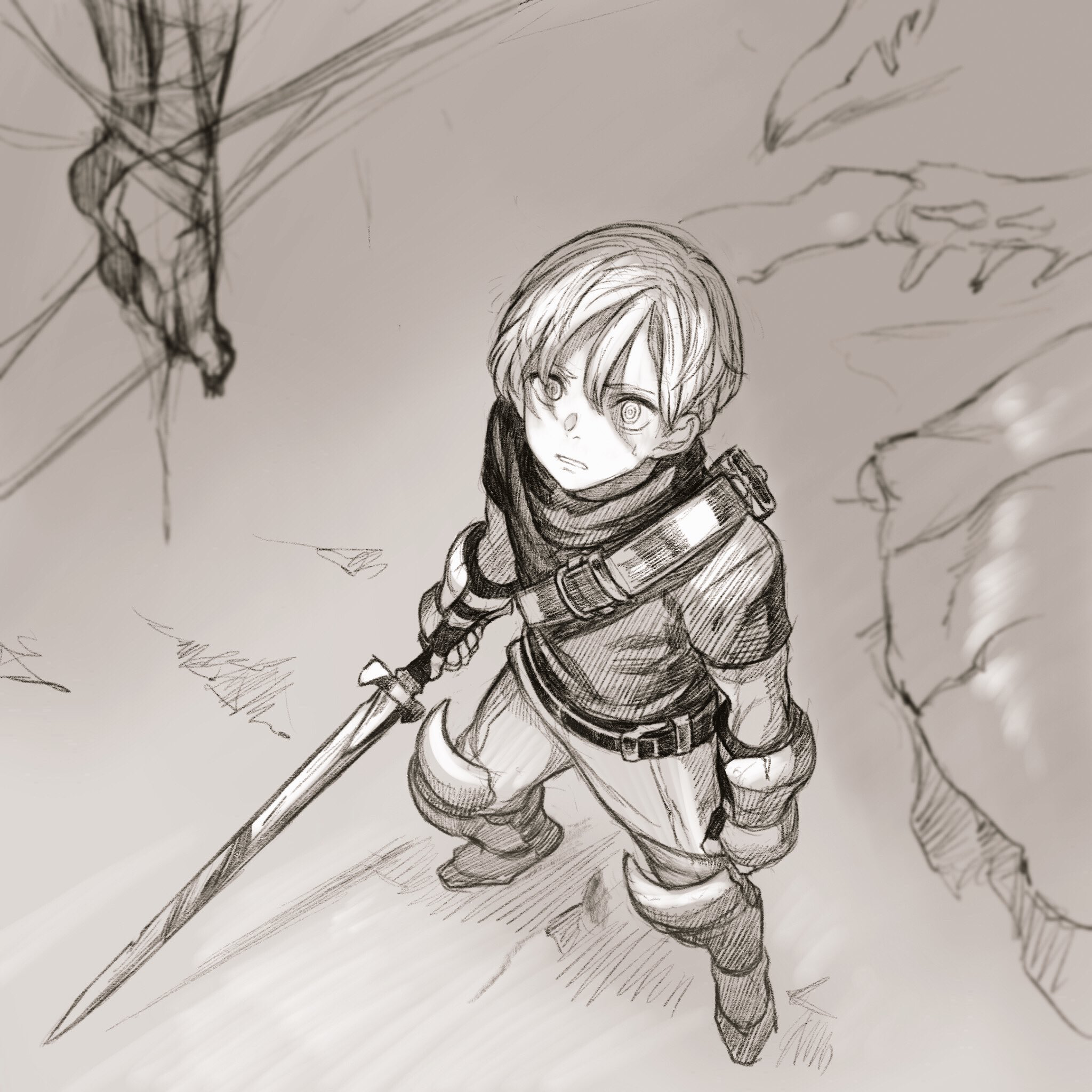 Cute anime boy, fantasy, downward perspective | Drawing | Pinterest ...