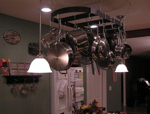 kitchen island pot rack