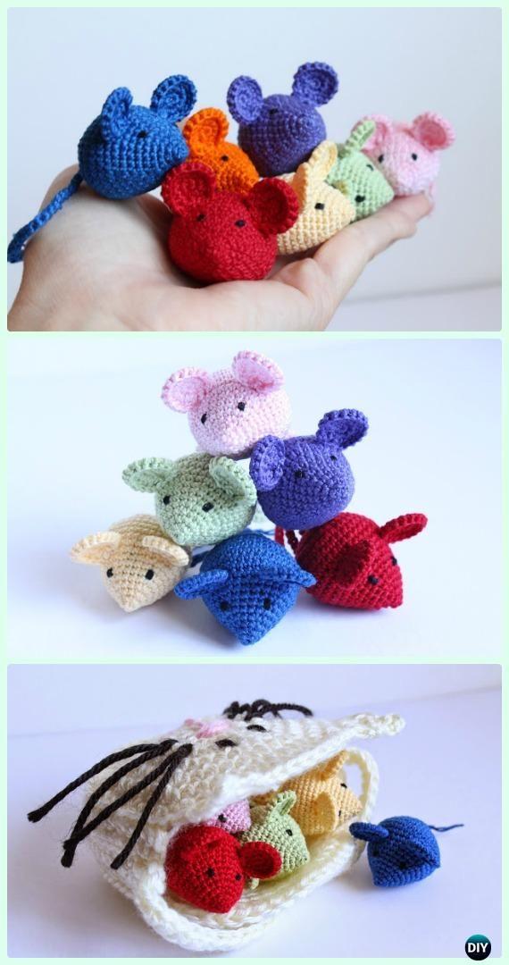 Crochet Tiny Amigurumi Mouse Free Pattern - Crochet Amigurumi Little ...