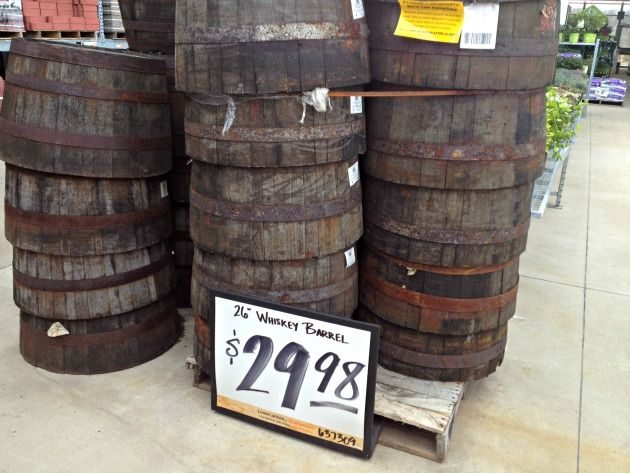Whiskey Barrels From The Home Depot These Are Perfect For Flower Gardens Digin Ad Whiskey Barrel Flowers Diy Whiskey Barrel Whiskey Barrel