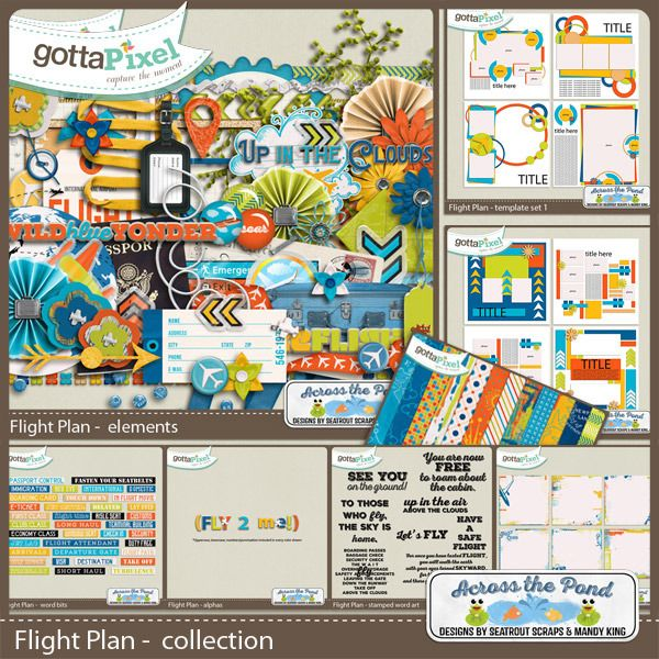 Gotta-Grab-It with @Seatrout Scraps! Flight Plan Collection by - flight plan template