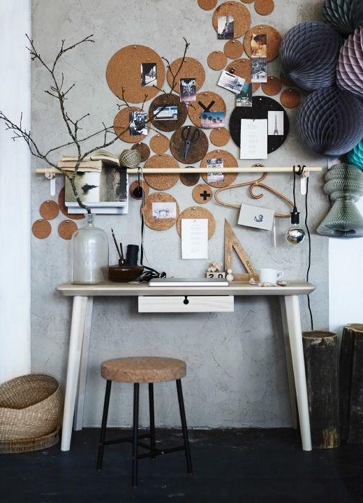 heat topfuntersetzer aus kork als notizbretter an einer wand interior diy pinterest. Black Bedroom Furniture Sets. Home Design Ideas