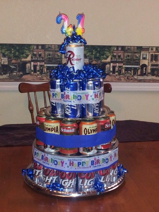 Happy 21st Birthday Son Redneck Beer Cake
